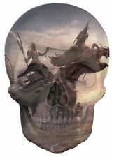 Gothic Skull Double Exposure Fantasy Ancient Warrior View Wall Sticker 727