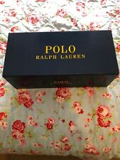 POLO RALPH LAUREN Mens Cayson Black/Red Sliders Size 10 UK 44EU Brand New In Box