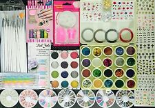 Nail Art Kit #11.  Complete set for Birthday gift Girls Women. Beads. Stamping.