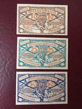 Notgeld Gilgenburg 3 Stück  1920 sehr guter Zustand