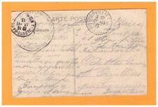 TOULOUSE (31) PENICHE devant HOTEL ST-GAUDENS & TRAMWAY devant GARE / F.M. 1915