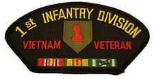 US ARMY 1ST ID FIRST INFANTRY DIVISION VIETNAM VETERAN PATCH W/ CAMPAIGN RIBBONS