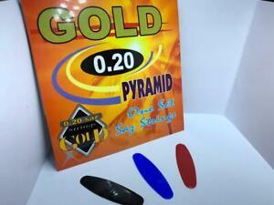 Gold Pramid + 3 Stk. Mizrap. / 0,20 / Uzun Sap / Baglama / Teli / Saiten