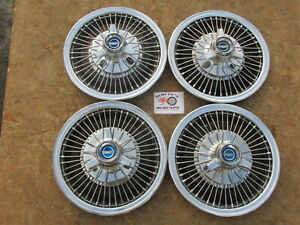 """1967 FORD MUSTANG, FAIRLANE, FALCON 14"""" WIRE SPINNER WHEEL COVERS, HUBCAPS SET~4"""
