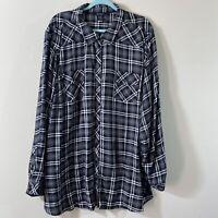 TORRID Women's Plus Size 5X PLAID Long Sleeves Shirt