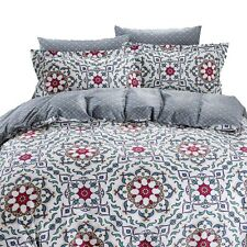 DM634Q - Queen Duvet Cover Set - 6 Piece 100% Fine Cotton - Dolce Mela Bedding
