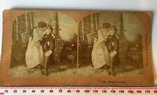 #7755 Blissful Moment! Antique 1893 Kilburn Sepia Stereoview