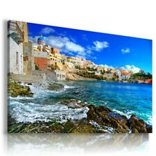GREECE ZAKYNTHOS ISLAND SEA Window View Canvas Wall Art Picture Large W41 MATAGA