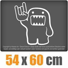 Heavy Domo  chf0277 weiß 60 x 55 cm Heckscheibenaufkleber  Auto Car Scheibe