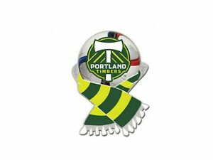 Portland Timbers MLS WinCraft Green & Moss Green Soccer Scarf Metal Lapel Pin