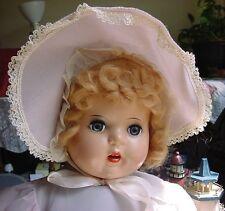 "Huge 26"" 1940's - 50's Baby Doll - Original Clothing, Mohair Wig, Hp Head"