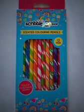 Scented Pencils Scribble 12 Pack Scented Colouring Pencils for kids age 3 +