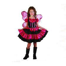 Butterfly Costume & Wings Child Pink Fairy Girls Easter Fancy Dress S:M (8)