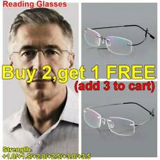 Randlose Lesebrille Damen Herren Leser Brille Lesehilfe Sehhilfe +1.0 +2.0 +3.5