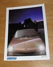 Fiat X1/9 & X1/9 VS Brochure 1987 - X19 coupe