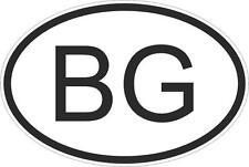 Adesivo adesivi sticker codice auto moto ritagliat  nazioni  ovale bulgaria