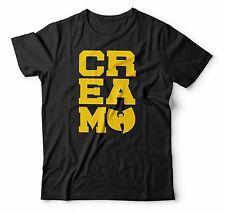 Wu Tang Clan Tshirt RZA GZA ODB Method Rap Tee CREAM Cash Rules Mens Hip Hop