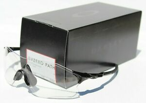 OAKLEY EVZero Path Sunglasses/Shield Polished Black/Clear NEW OO9308-2838