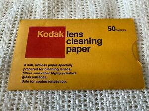 VINTAGE KODAK LENS CLEANING PAPER, good for cellphone screens too