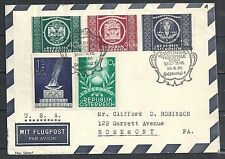 Austria covers 1950 UPU Aerogramme Salzburger Festspielen to Rosemont