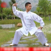 Men Womens Martial Arts Uniform Kung Fu Tai Chi Taekwondo Top+pants Exercise Kid