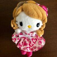 Hello Kitty x Momoka Eri (Momoeri) Mascot Plush Doll 2009 Sanrio Japan Rare F/S
