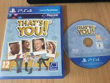 THAT'S YOU PS4 Playstation 4 Game. VGC, PAL UK