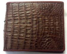 Crocodile Alligator Wallets Skin Leather Tail Bifold Brown Men's Accessories