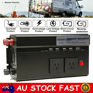 2000W/4000Watt MAX converter power inverter DC 12V to AC 240V invertor USB Ports