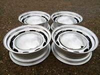 "5.5""x15"" JBW 356 style VW BEETLE / BUS 5x205 CHROME STEEL WHEELS (x4)"