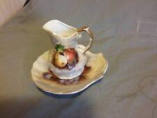 Vintage Mini Pitcher and Bowl Pear Apple Grapes Japan
