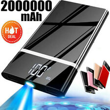 Portable 2000000mAh External Battery Charger Power Bank for Phone 2 USB LCD LED