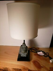 BUDDHA bedside end Table Lamp night light & shade