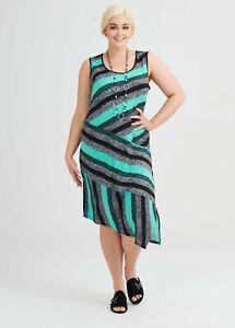 ts Taking Shape Dress Size L  Nikita Stripe Style NWT