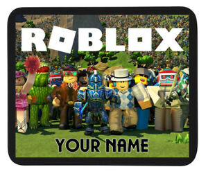 PERSONALISED CUSTOM NAME ROBLOX GAMING MOUSE MAT / PAD - PC/Laptop