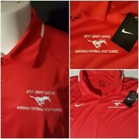 NWT Nike Dri-Fit men's golf Polo Shirt size XL s/s mustang football golf classic