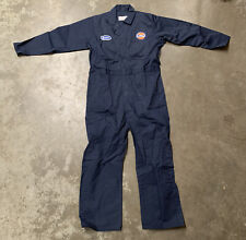 Vintage Gulf Gas Gasoline Oil Magson Uniform Coverall Overall Mechanics Jumpsuit