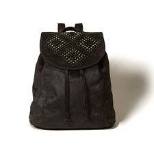NWT Hollister Suede Black Shine Backpack Bag Purse Tote