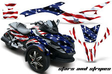 AMR Racing Can Am BRP RS Spyder Graphic Kit Wrap Roadster Sticker Decal USA FLAG