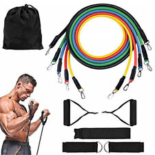 11PCS Resistance Bands Workout Exercise Fitness Pull Tubes Gym Strength Training