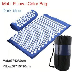 Massager Relieve Massage Acupressure Acupuncture Body Pain Yoga Mat with Pillow
