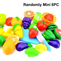 Kids Fruit Vegetable Food Cutting Set Plastic Farm Role Play Toy Educational
