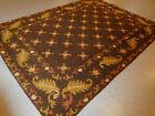 Spanish rug antique hand woven European carpet 4'11'x6'8'' estate rare