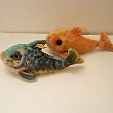 Steiff Fische -  Flossy – ALT – mit Knopf und Fahne 2322/00 1960-64er Jahre