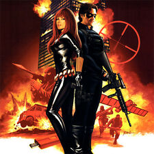 WINTER SOLDIER #7 ART PRINT Steve Epting SIGNED Bucky BLACK WIDOW Comic Cover
