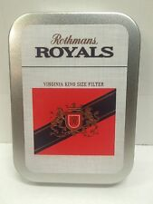 Rothmans Royals Retro Advertising Brand Cigarette Tobacco Storage 2oz Hinged Tin