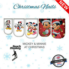 Nail Art Nail Wraps Nail Decals Water Transfers MICKEY MOUSE & MINNIE MOUSE XMAS