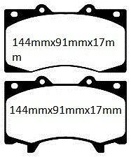EBC Ultimax Performance Brake Pads - DPx2125 Nissan Patrol