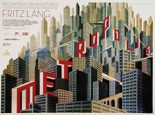 Metropolis Fritz Lang 1927 reconstructed vintage style movie poster print B10