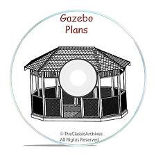 GAZEBO PLAN DESIGN MEGA PACK, 13 DIFFERENT DESIGNS! CRAFT PATTERN BUILDING